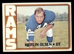 1972 Topps #181  Merlin Olsen  Front Thumbnail