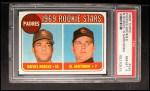 1969 Topps #592  Padres Rookies   -   Rafael Robles / Al Santorini Front Thumbnail
