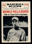 1961 Nu-Card Scoops #417    Fred Merkle  Front Thumbnail