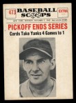 1961 Nu-Card Scoops #473    Marty Marion  Front Thumbnail