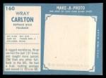 1961 Topps #160   Wray Carlton Back Thumbnail