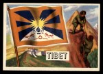 1956 Topps Flags of the World #52  Tibet  Front Thumbnail