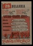 1956 Topps Flags of the World #28   Bulgaria Back Thumbnail