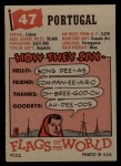 1956 Topps Flags of the World #47  Portugal  Back Thumbnail