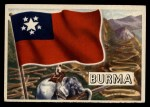 1956 Topps Flags of the World #11   Burma Front Thumbnail