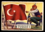 1956 Topps Flags of the World #7  Turkey  Front Thumbnail