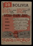 1956 Topps Flags of the World #10   Boliva Back Thumbnail