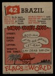 1956 Topps Flags of the World #42   Brazil Back Thumbnail