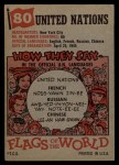 1956 Topps Flags of the World #80  United Nations  Back Thumbnail