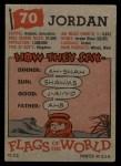1956 Topps Flags of the World #70  Jordan  Back Thumbnail