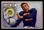 1951 Bowman #42  Glenn Davis  Front Thumbnail