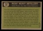 1961 Topps #25  Reds Heavy Artillery  -  Vada Pinson / Gus Bell / Frank Robinson Back Thumbnail