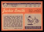 1970 Topps #225  Jackie Smith  Back Thumbnail