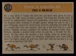 1960 Topps #115   -  Roy Face / Hoyt Wilhelm Fork & Knuckler Back Thumbnail