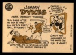 1960 Topps #214  Jimmy Dykes  Back Thumbnail