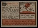 1962 Topps #357   Jerry Walker Back Thumbnail