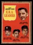 1962 Topps #55  AL ERA Leaders  -  Dick Donovan / Bill Stafford / Don Mossi / Milt Pappas Front Thumbnail