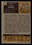 1971 Topps #21   Charlie Smith Back Thumbnail