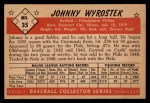 1953 Bowman Black and White #35  John Wyrostek  Back Thumbnail