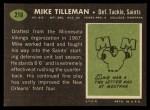 1969 Topps #218  Mike Tilleman  Back Thumbnail