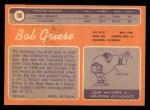 1970 Topps #10   Bob Griese Back Thumbnail