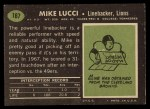 1969 Topps #167   Mike Lucci Back Thumbnail