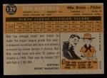 1960 Topps #129  Rookies  -  Bob Hartman Back Thumbnail