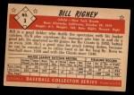 1953 Bowman Black and White #3   Bill Rigney Back Thumbnail