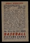 1951 Bowman #95  Sherry Robertson  Back Thumbnail