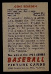 1951 Bowman #284  Gene Bearden  Back Thumbnail