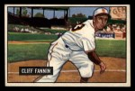 1951 Bowman #244   Cliff Fannin Front Thumbnail