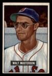 1951 Bowman #307   Walt Masterson Front Thumbnail