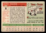 1955 Topps #5   Jim Gilliam Back Thumbnail