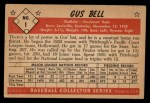 1953 Bowman Black and White #1   Gus Bell Back Thumbnail