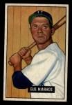 1951 Bowman #124   Gus Niarhos Front Thumbnail