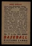 1951 Bowman #77  Mike Goliat  Back Thumbnail