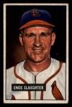 1951 Bowman #58  Enos Slaughter  Front Thumbnail
