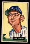 1951 Bowman #195   Paul Richards Front Thumbnail