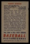 1951 Bowman #266  Harry Dorish  Back Thumbnail