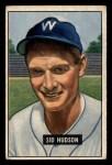 1951 Bowman #169   Sid Hudson Front Thumbnail