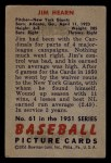 1951 Bowman #61   Jim Hearn Back Thumbnail