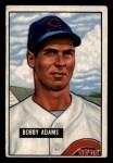 1951 Bowman #288   Bobby Adams Front Thumbnail