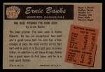 1955 Bowman #242   Ernie Banks Back Thumbnail