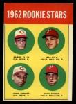 1963 Topps #29 ERR 1962 Rookie Stars  -  Sammy Ellis / Ray Culp / John Boozer / Jesse Gonder Front Thumbnail