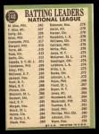1967 Topps #240  1966 NL Batting Leaders  -  Felipe Alou / Matty Alou / Rico Carty Back Thumbnail
