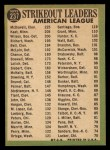 1967 Topps #237  1966 AL Strikeout Leaders  -  Jim Kaat / Sam McDowell / Earl Wilson Back Thumbnail