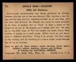 1941 Gum Inc. Uncle Sam Home Defense #75   Rifle Air Defense Back Thumbnail