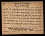 1941 Gum Inc. Uncle Sam Home Defense #85  Cargo Net Landing  Back Thumbnail