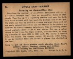 1941 Gum Inc. Uncle Sam Home Defense #86  Forming An Ammunition Lane  Back Thumbnail