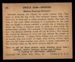 1941 Gum Inc. Uncle Sam Home Defense #62   Motor Convoy Drivers Back Thumbnail